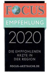 Urkunde Focus 2018